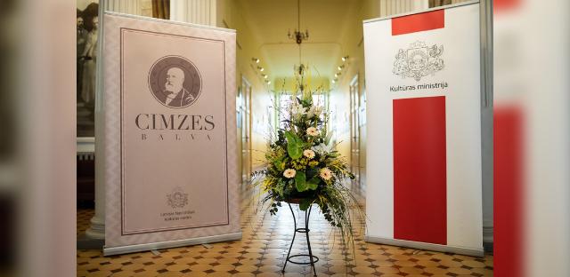 Kultūras ministrijas apbalvošanas un Cimzes balvas pasniegšanas ceremonija