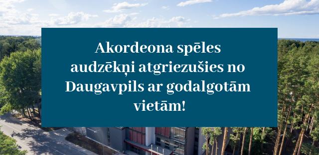 Akordeona spēles audzēkņi atgriezušies no Daugavpils ar godalgotām vietām!