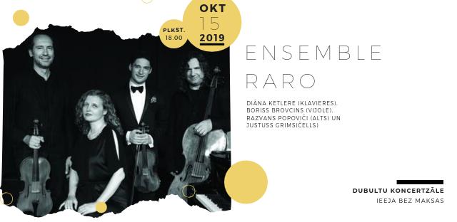 Londonas Karaliskās Mūzikas akadēmijas profesore, pianiste Diāna Ketlere kopā ar klavieru kvartetu Ensemble Raro viesosies Jūrmalas Mūzikas vidusskolā