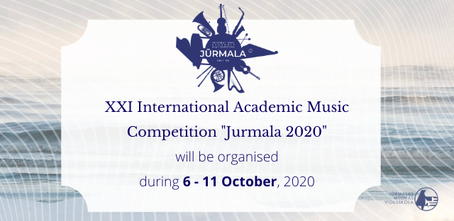 Jūrmalas starptautiskais pianistu konkurss tiek pārcelts uz 2020. gada oktobri / The Jurmala International Piano Competition has been postponed until October 2020
