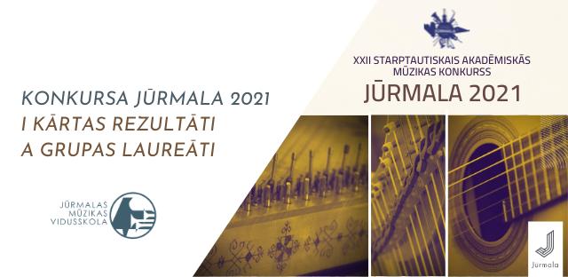 Paziņoti I kārtas rezultāti un A grupas laureāti konkursā Jūrmala 2021