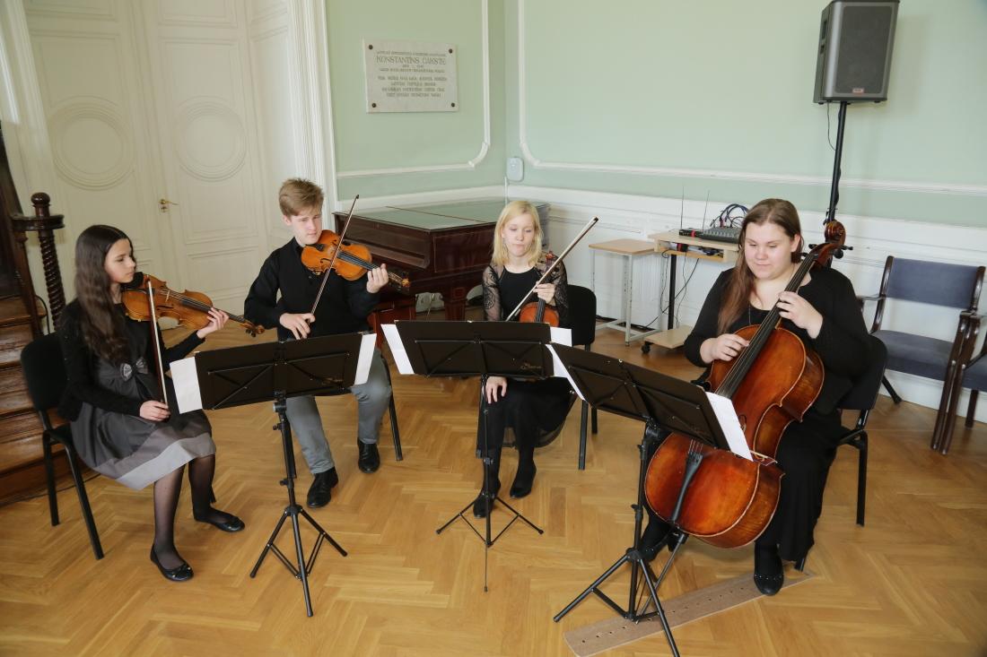 Jūrmalas Mūzikas vidusskolas stīgu kvartets LU Mazajā aulā